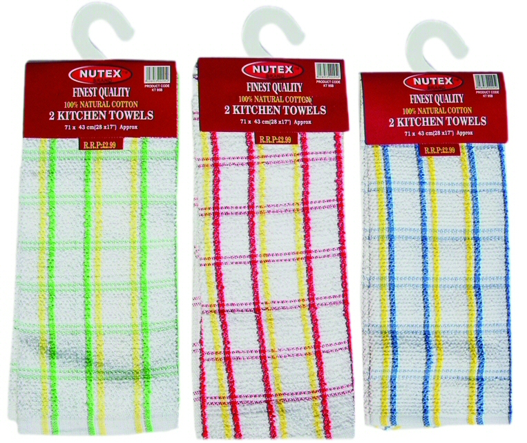 Charmant ... Cotton Terry Checked Kitchen Towel